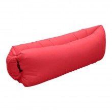 Sezlong gonflabil SIKS® pentru gradina, plaja, rucsac depoziare, rosu