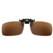 Lentile SIKS® pentru ochelari CLIPS ON, polarizate, ideale pentru condus ziua, maro