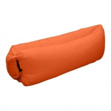 Sezlong gonflabil SIKS® portocaliu, cadou rucsac pentru depozitare,
