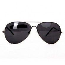 Ochelari SIKS® pentru condus ziua, cu rama metalica, lentile negre