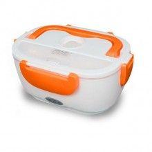 Cutie electrica SIKS® incalzit mancarea, pranz, alb/portocaliu