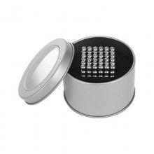 Set bile magnetice SIKS® BMG01, argintii, 216 bile