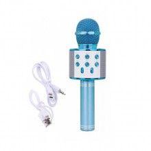 Microfon karaoke SIKS® profesional cu boxa inclusa, SD Card, USB, AUX, Albastru
