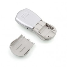 Aparat de masaj SIKS® cu 2 plasturi, electrostimulare, 8 programe de masaj, argintiu