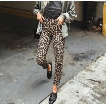 Pantaloni slim fit dama imprimeu leopard masura 27