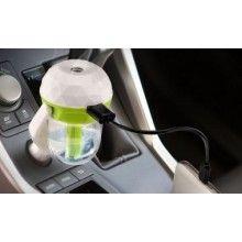 Umidificator auto SIKS® pentru masina cu incarcator USB, difuzor aromaterapie, verde