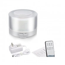 Umidificator SIKS® difuzor aroma, telecomanda, lumini led, 500 ml, alb