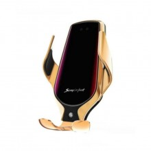 Suport telefon SIKS® incarcator auto R3 pentru bord, wireless, senzor inteligent, auriu