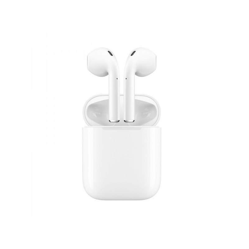 Casti i12 Wireless SIKS® Bluetooth V5.0+, Android, iOS, raza de actiune 15m, sunet 3D, model nou, control Touch, rezistente la a