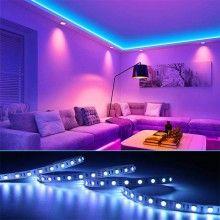 Kit Banda Led RGB SIKS® Lumina Ambientala, 5 Metri, Telecomanda, IP65, Multicolor