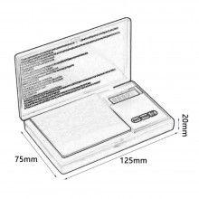 Cantar de bijuterii SIKS® cu afisaj digital 200 x 0.01 , portabil, negru