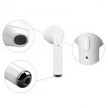 Casti Bluetooth SIKS®, model 7, Wireless, reducerea zgomotului, microfon incorporat, DOC de incarcare, incarcare rapida, alb