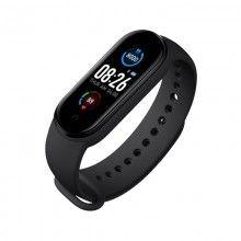 Bratara fitness SIKS® bluetooth, pedometru, notificari, model M5, negru
