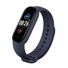Bratara fitness SIKS® bluetooth, pedometru, notificari, model M5, albastru