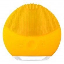 Dispozitiv pentru curatare faciala si masaj culoare galben