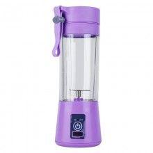 Mini blender portabil SIKS® 2 lame, 380 ml, mov