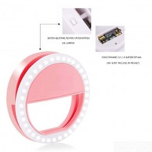 Mini lampa led SIKS® pentru telefon, selfie ring, roz