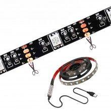 Banda led SIKS® pentru televizor, lumina ambientala, telecomanda, 2 m, lumini multicolore