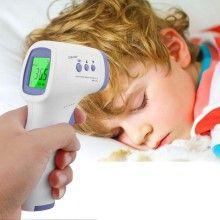 Termometru electronic EDAR® pentru frunte, masurare temperatura cu infrarosu, alb/mov
