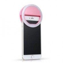 Lampa led SIKS® selfie ring, lumina portabila pentru telefon, roz