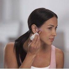Epliator facial SIKS® hipoalergenic, functionare cu baterii, indicator led, alb