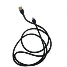 Cablu date SIKS® pentru telefon/tableta, 1000mm, incarcator, micro usb, cablu soft, negru