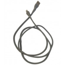 Cablu date SIKS® pentru telefon/tableta, 1000mm, lightning, cablu soft, gri