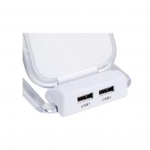 Incarcator SIKS® Wireless si Suport de Birou OJD-16 cu 2 Porturi USB si 3 Bobine, Alb