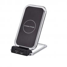 Incarcator SIKS® Wireless si Suport de Birou OJD-16 cu 2 Porturi USB si 3 Bobine, Negru