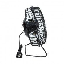 Ventilator SIKS® de masa cu USB, reglabil la 360°, 15 x 14 x 8,5 cm, 68 cm cablu, negru