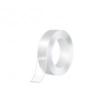 Banda SIKS® dublu adeziva, reutilizabila dupa spalare, transparent, 5m