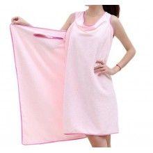Prosop SIKS® tip rochie pentru femei, cu bretele, marime universala, roz