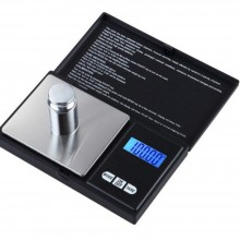 Cantar de bijuterii SIKS® cu afisaj digital 500 x 0,1, portabil, negru