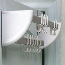 Cuier dublu pentru usa Huayida cu sistem de prindere si 12 carlige