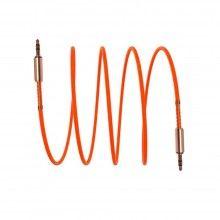 Cablu Audio SIKS®, mufa Jack 3.5 mm, transmisie rapida, compatibilitate multipla, portocaliu