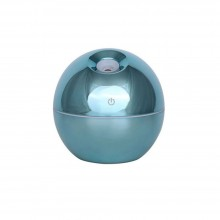 Umidificator cu ultrasunete SIKS®, difuzor aroma, aparat pentru camera, forma rotunda, model sidefat, 130 ml, LED, verde