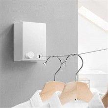Sarma rufe SIKS® extensibila si retractabila, lungime 4.2m, fixare pe perete, alb