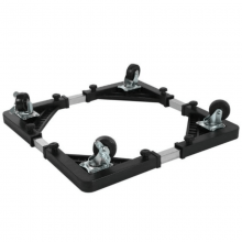 Suport cu roti SIKS® pentru electrocasnice, dimensiune ajustabila, 56 x 56 cm, negru