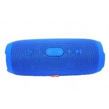 Boxa portbabila EDAR® fara fir, model CHARGE3, functie bluetooth si radio, incarcare USB, Card, 100 W, bass puternic, albastra