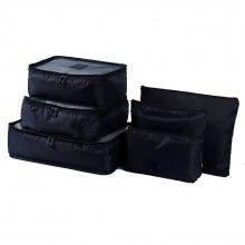 Set SIKS® 6 genti pentru organizarea si depozitarea bagajelor, negru
