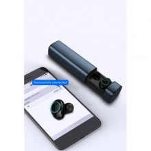 Casti Audio Wireless SIKS® Bluetooth, Carcasa Metalica, HD Stereo, TWS-S9, Albastru