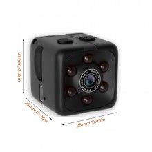 Mini Camera EDAR®, rezolutie Full HD, functie video si foto, detectare miscare, vedere nocturna, neagra