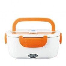 Cutie electrica portocalie pentru incalzit mancarea