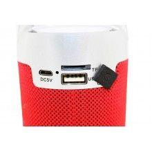 Mini boxa SIKS®, autonomie 2-4 ore, 1200mA, portabila, rosie