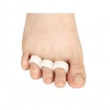 Set 2 separatoare degete din silicon alb