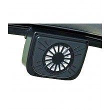 Ventilator auto cu incarcare energie solara pentru geam automobil cu prindere de cauciuc