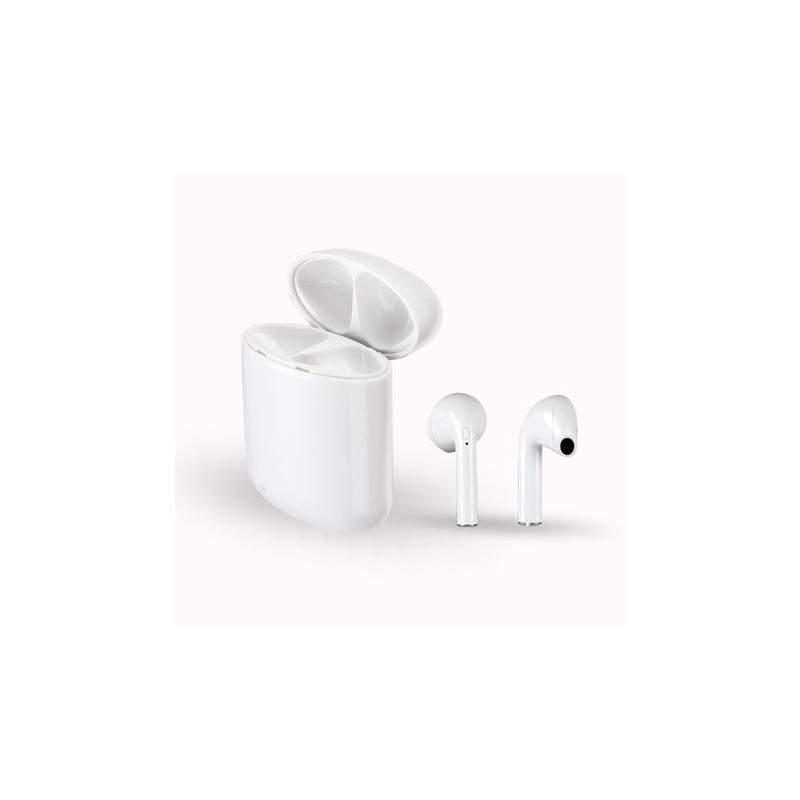 Casti Bluetooth SIKS®, model 9, Wireless, reducerea zgomotului, microfon incorporat, DOC de incarcare inclus, alb