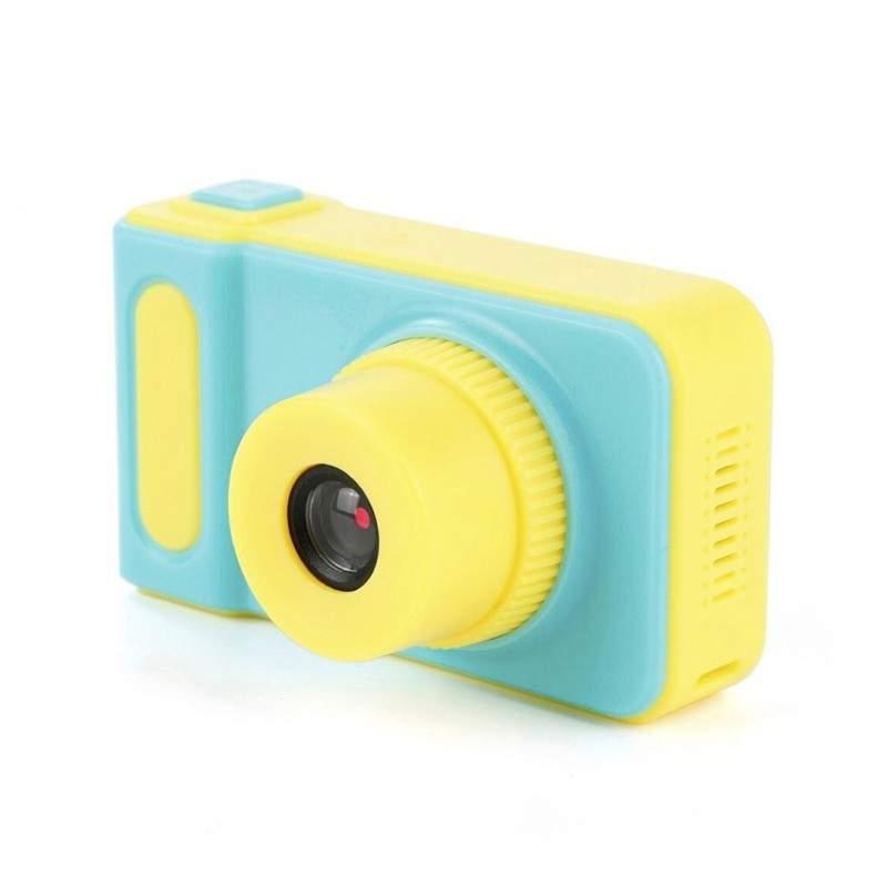 Aparat foto EDAR® pentru copii, galben cu albastru, HD, Card de memorie 8 GB cadou