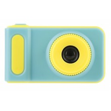 Camera foto pentru copii albastru cu galben + card de memorie 8GB