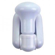 Bec EDAR® bulb fara fir cu LED, montare pe perete, pe baterii, cu intrerupator, alb
